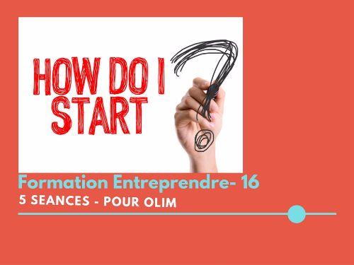 Nous lançons le 16 ème cycle de la Formation Entreprendre