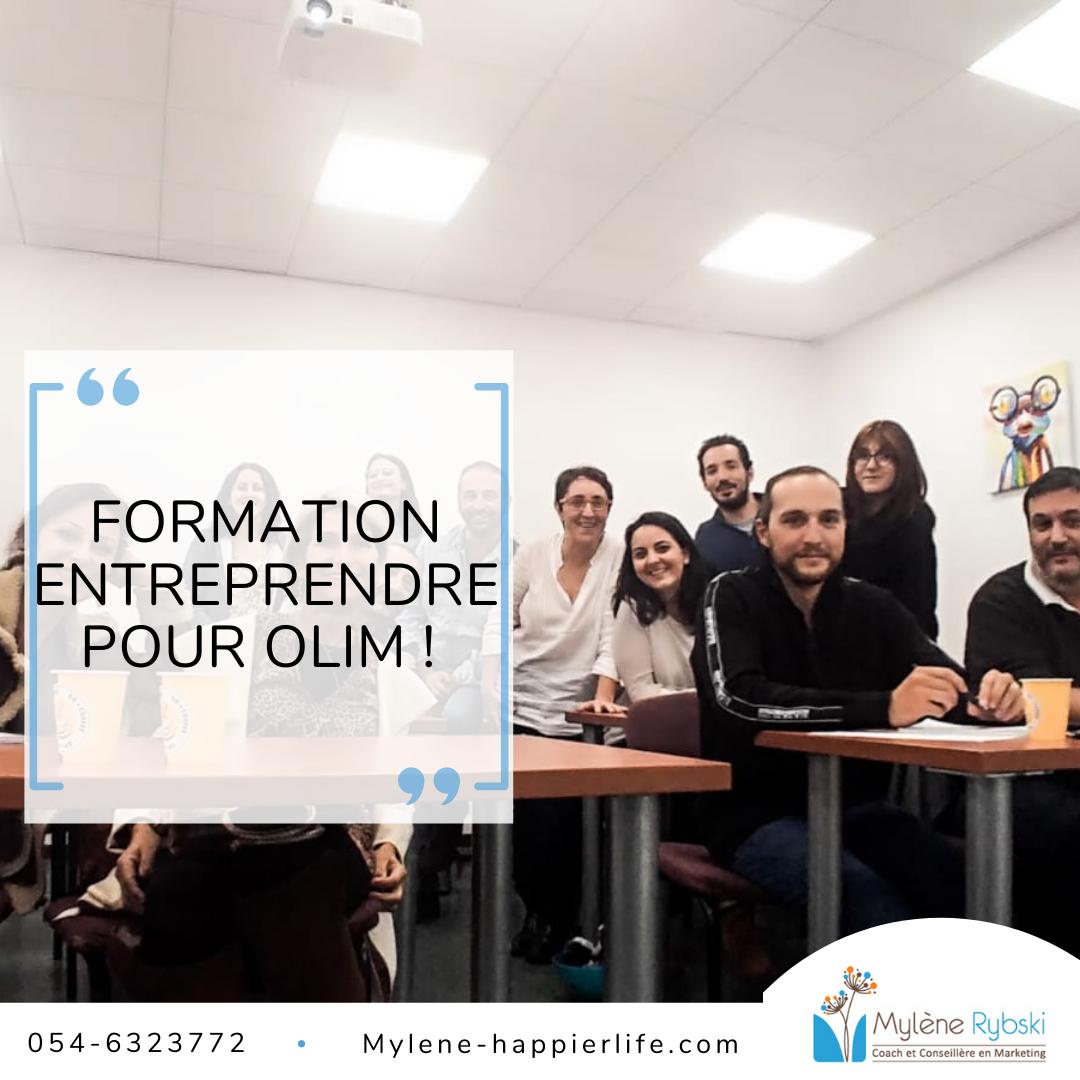 Droit pour Olim Entrepreneurs ou futurs Entrepreneurs: Formation pour olim, entièrement subventionnée.